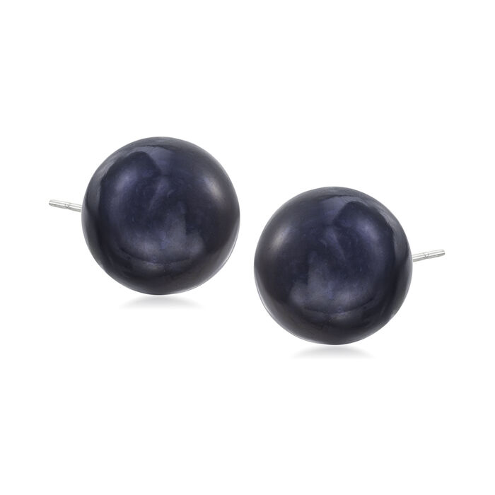 9-9.5mm Multicolored Cultured Pearl and 3.80 ct. t.w. CZ Jewelry Set: Four Pairs of Stud Earrings in Sterling Silver