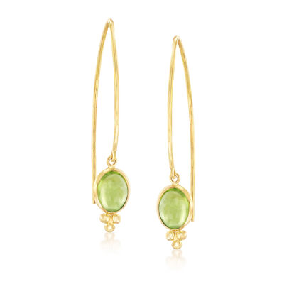 Mazza 3.60 ct. t.w. Peridot Drop Earrings in 14kt Yellow Gold