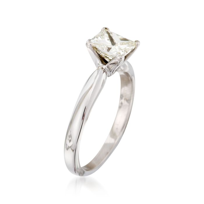 C. 2000 Vintage 1.00 Carat Princess-Cut Diamond Solitaire Engagement Ring in 14kt White Gold