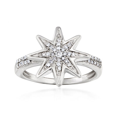 .20 ct. t.w. Diamond Star Ring in Sterling Silver