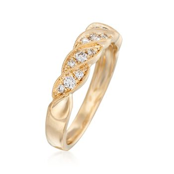 .26 ct. t.w. Diamond Swirl Wedding Ring in 14kt Yellow Gold, , default