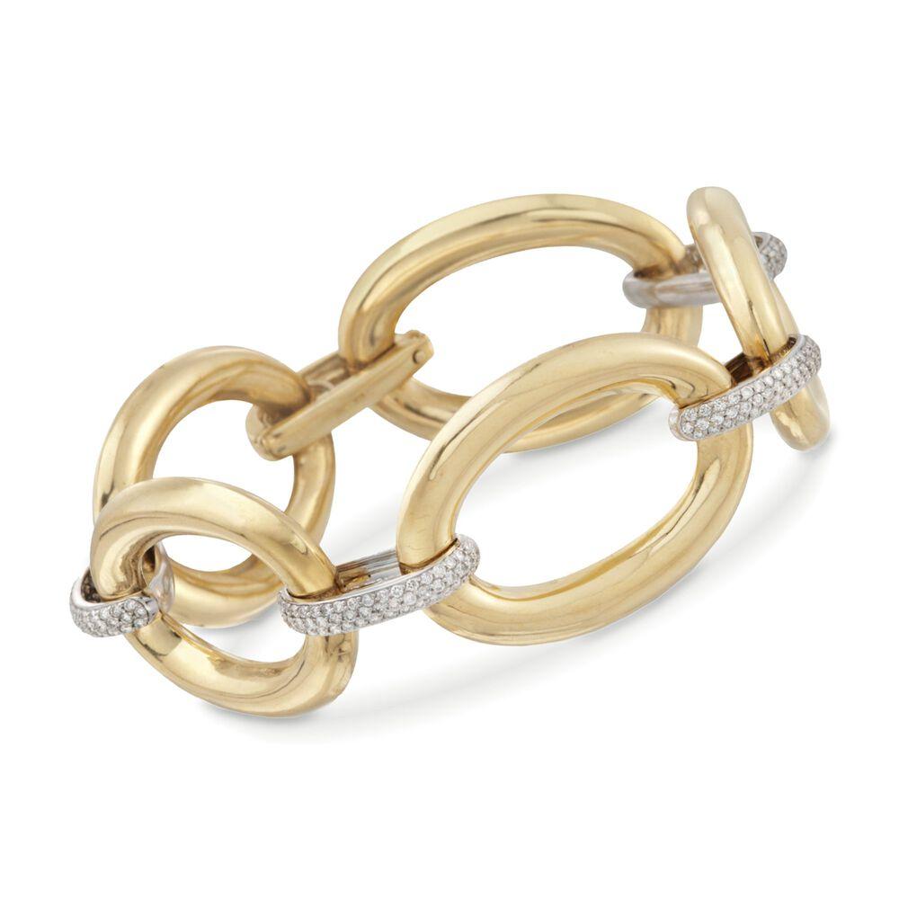 608df607a 1.50 ct. t.w. Diamond Link Bracelet in 18kt Two-Tone Gold. 8