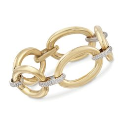 "1.50 ct. t.w. Diamond Link Bracelet in 18kt Two-Tone Gold. 8"", , default"