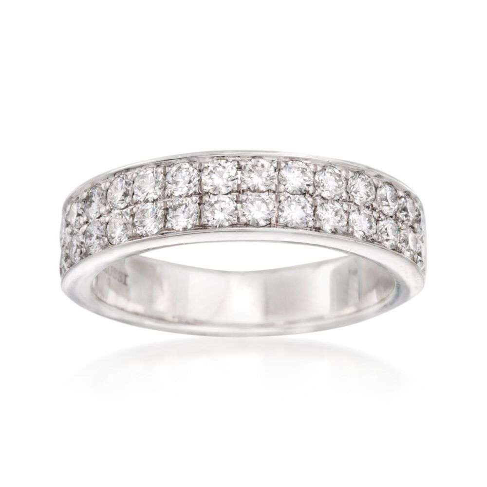 T W Diamond Wedding Band In 14kt White Gold