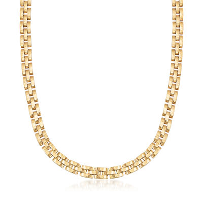 C. 1980 Vintage Cartier 18kt Yellow Gold Panther-Link Necklace, , default