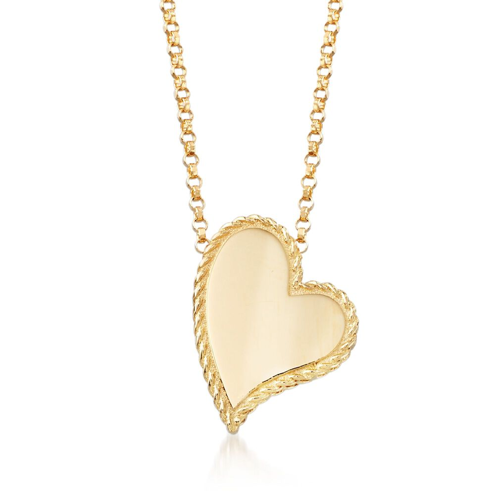 Roberto coin princess 18kt yellow gold heart pendant necklace roberto coin quotprincessquot 18kt yellow gold heart pendant necklace aloadofball Image collections