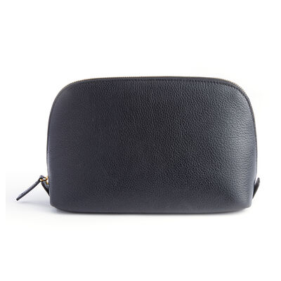 Royce Black Leather Cosmetic Bag, , default