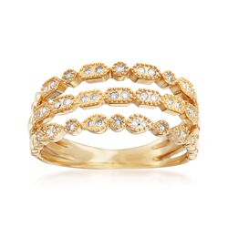.20 ct. t.w. Diamond Multi-Row Ring in 14kt Yellow Gold, , default