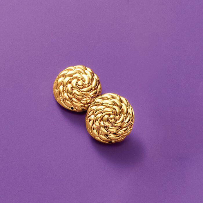 Italian 14kt Yellow Gold Roped Knot Stud Earrings