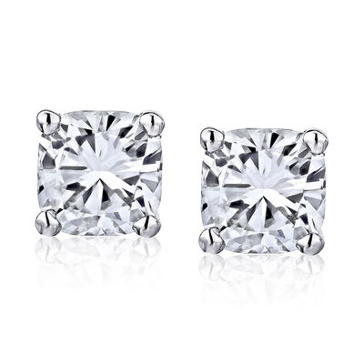 1.40 ct. t.w. Diamond Stud Earrings in 14kt White Gold, , default