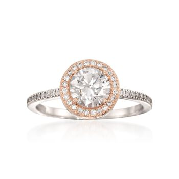 Simon G. .30 ct. t.w. Diamond Engagement Ring Setting in 18kt Two-Tone Gold, , default