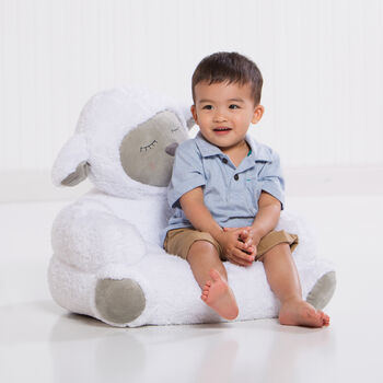 Children's Lamb Plush Character Chair, , default