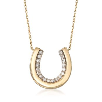 .21 ct. t.w. Diamond Horseshoe Necklace in 14kt Yellow Gold, , default