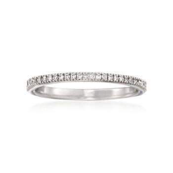 Simon G. .17 ct. t.w. Diamond Wedding Ring in 18kt White Gold. Size 7, , default
