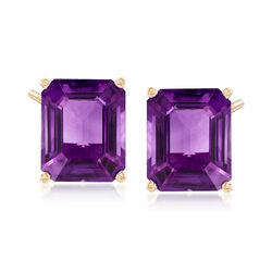 8.00 ct. t.w. Amethyst Earrings in 14kt Yellow Gold, , default