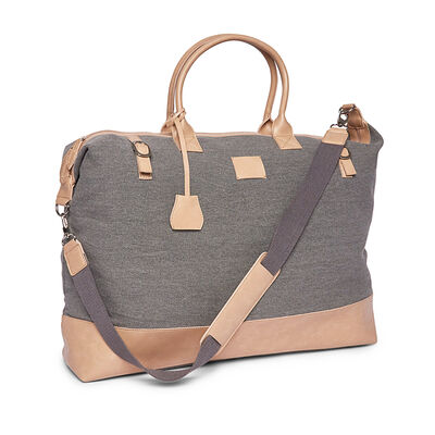 "Brouk & Co. ""Hartford"" Light Gray Weekender Bag"