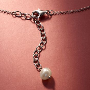 4-8mm Graduated Cultured Pearl Necklace in Sterling Silver