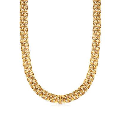 C. 1970 Vintage 14kt Yellow Gold Link-Chain Necklace, , default