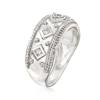 .20 ct. t.w. Diamond Band in 14kt White Gold. Size 7, , default