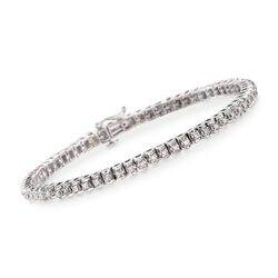 "1.00 ct. t.w. Diamond Tennis Bracelet in Sterling Silver. 7.25"", , default"