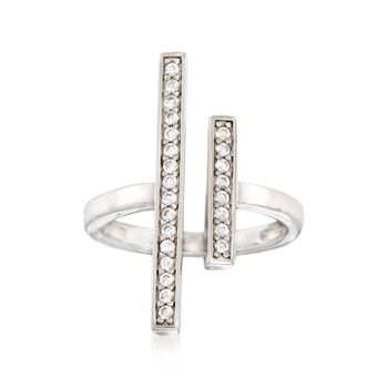 .35 ct. t.w. CZ Double Bar Ring in Sterling Silver, , default