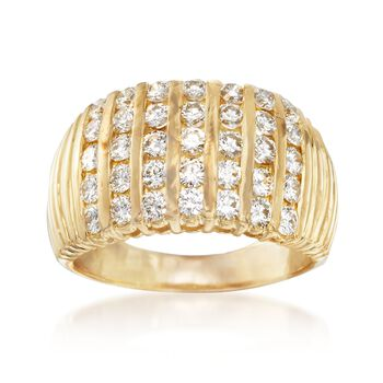 C. 1980 Vintage 2.00 ct. t.w. Diamond Channel-Set Ring in 18kt Yellow Gold. Size 9.5, , default