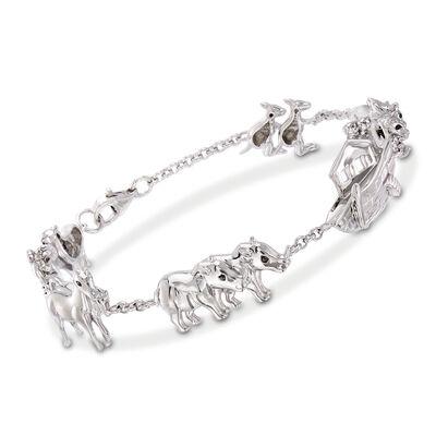 Sterling Silver Noah's Ark Bracelet, , default