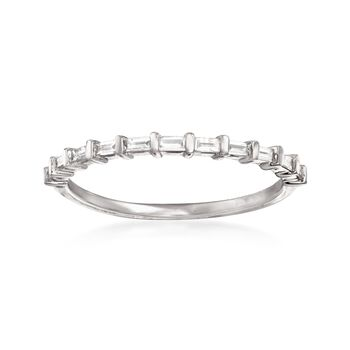 .16 ct. t.w. Baguette Diamond Band Ring in 14kt White Gold, , default