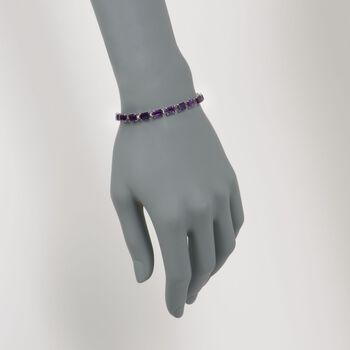 16.00 ct. t.w. Amethyst Bracelet in 14kt White Gold, , default