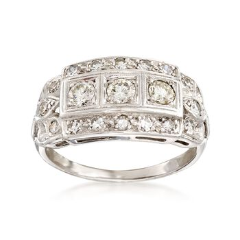 C. 1980 Vintage .85 ct. t.w. Diamond Ring in Platinum. Size 7, , default