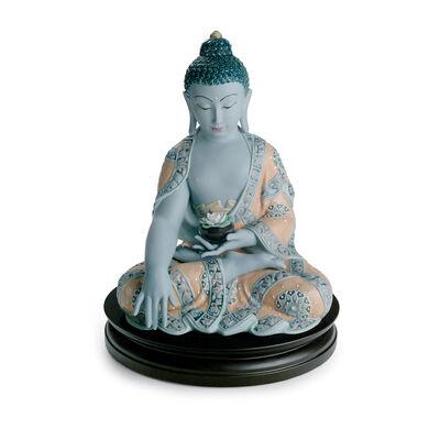 """Lladro """"Medicine Buddha"""" Enamel Figurine"""