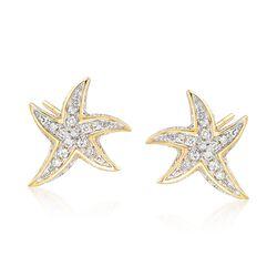 .15 ct. t.w. Diamond Starfish Earrings, , default
