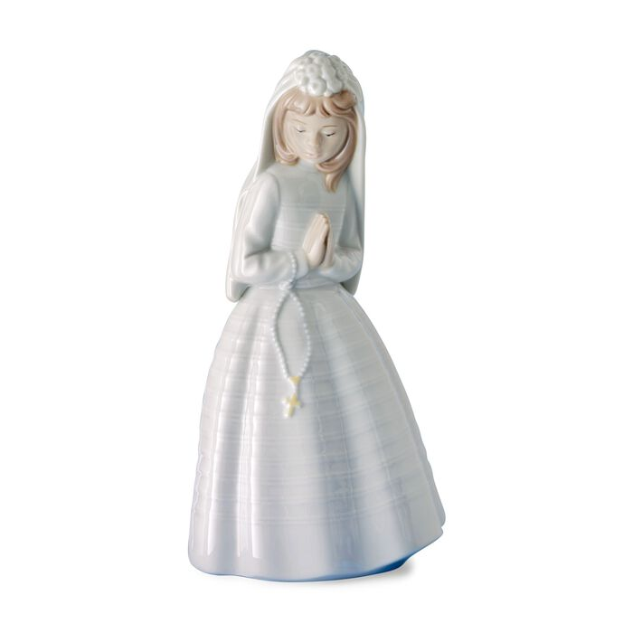 "Nao ""Girl Praying"" First Communion Porcelain Figurine, , default"