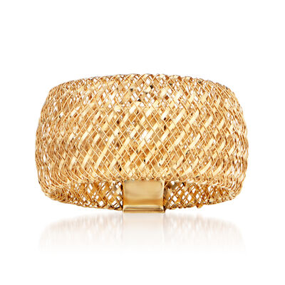 Italian 14kt Yellow Gold Mesh Ring