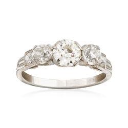 C. 1950 Vintage 1.40 ct. t.w. Diamond Ring in Platinum. Size 6, , default