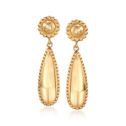 Italian 18kt Gold Over Sterling Beaded Drop Earrings , , default
