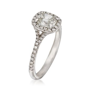Henri Daussi 1.16 ct. t.w. Diamond Engagement Ring in 14kt White Gold, , default