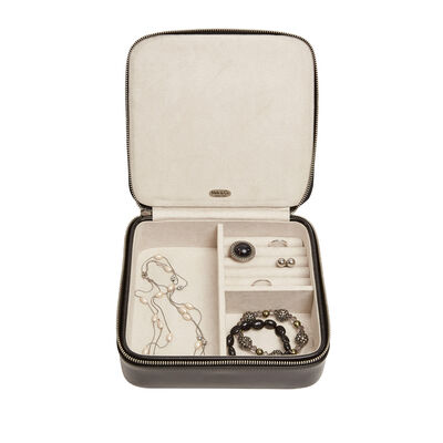 "Mele & Co. ""Gracie"" Black Faux Leather Travel Jewelry Case, , default"