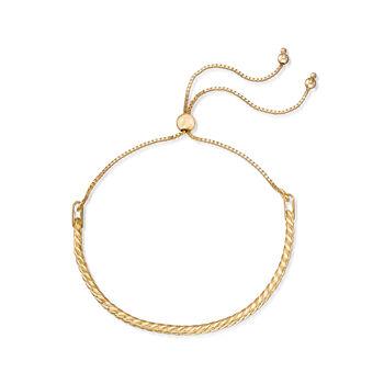 Cuban-Link Bolo Bracelet in 18kt Yellow Gold