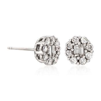 Gregg Ruth .75 ct. t.w. Diamond Earrings in 18kt White Gold, , default