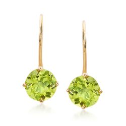 1.50 ct. t.w. Peridot Earrings in 14kt Yellow Gold, , default