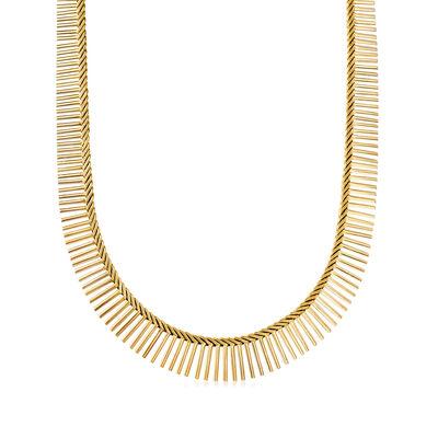 C. 1980 Vintage 14kt Two-Tone Gold Cleopatra Necklace, , default
