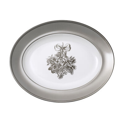 "Wedgwood ""Winter White"" Oval Platter, , default"