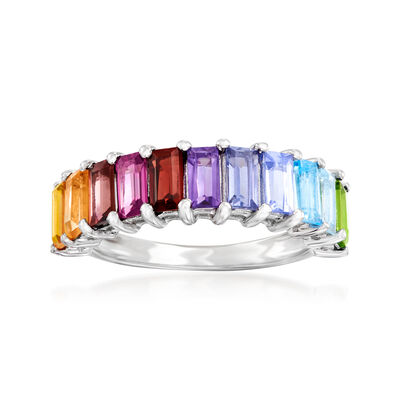 1.70 ct. t.w. Multi-Gemstone Ring in Sterling Silver, , default