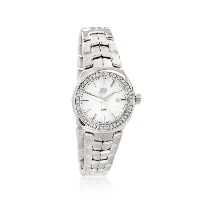 TAG Heuer Link Women's 32mm .80 ct. t.w. Diamond Watch in Stainless Steel with Mother-Of-Pearl Dial