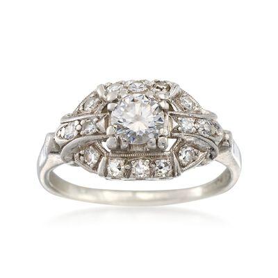 C. 1950 Vintage .60 ct. t.w. Diamond Ring in Platinum, , default