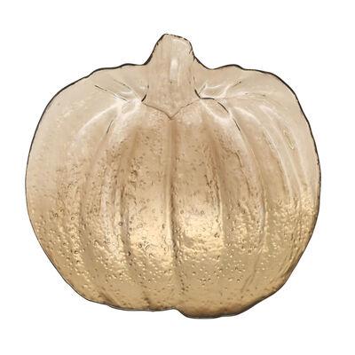 Vietri Leaf Glass Bronze Pumpkin Platter