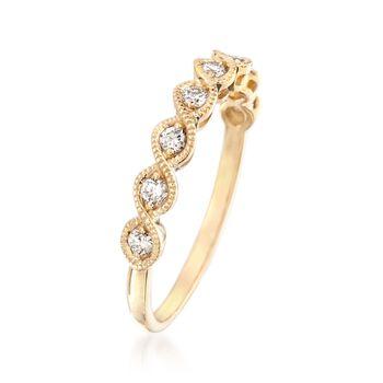 .25 ct. t.w. Diamond Milgrain Ring in 14kt Yellow Gold, , default