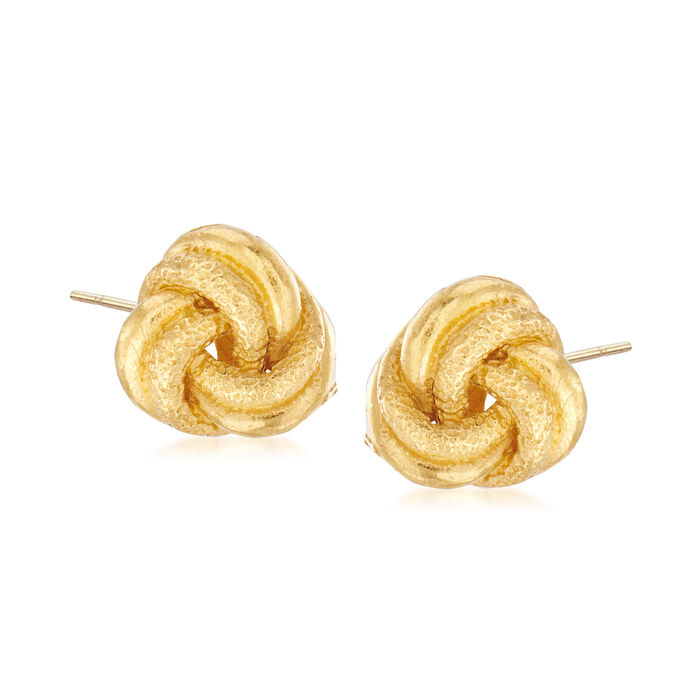 C. 1980 Vintage 22kt Yellow Gold Love Knot Earrings