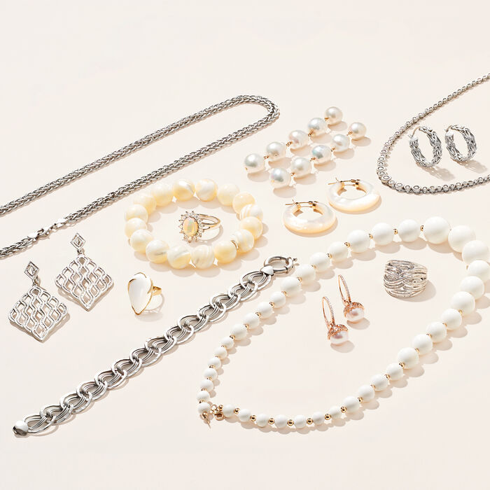 14kt White Gold Interlocking Multi-Link Bracelet